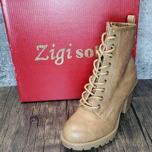 🤶⏬ ZIGI SOHO KOURTLAN Ankle Lace-up Booties 7M